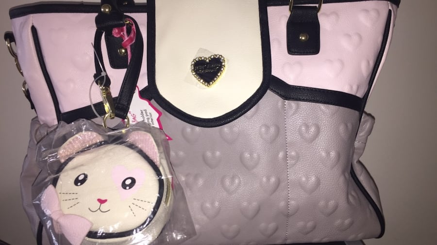Used Betsey Johnson Diaper Bag For