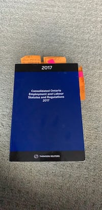 Consolidated Ontario Employment and Labour Statutes and Regulations 2017  Brampton, L6V 0W4