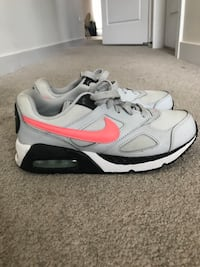Pair of gray-and-white nike running shoes Hamilton