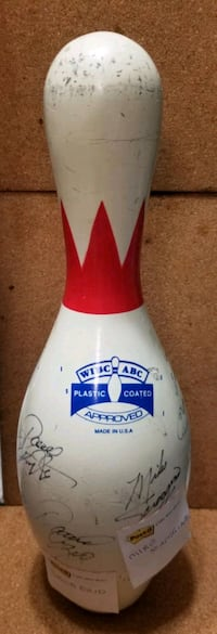 Signed Bowling Pin by PBA Champions