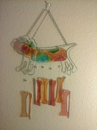 red, orange, and green dog glass hanging decor San Diego, 92115