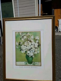 Van Gogh Roses painting with wooden frame San Jose, 95120