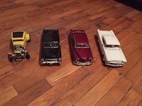 4 diecast cars from the movie American graffiti
