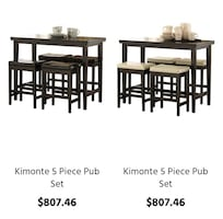 ashley furniture bar set