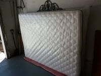 white and gray quilted mattress null