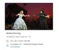 See Wicked Live on stage! Los Angeles
