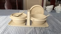 Two round grey plastic food containers Whittier, 90606