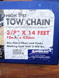 "Tow Chains, High Test 3/8"" x 14', Peerless San Diego"