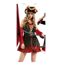 Ladies Sexy Pirate costume size small Surrey, V3T