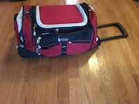 Red and black rolling duffel  Washington, 20001