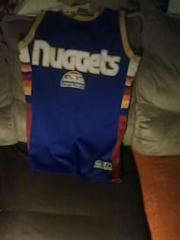 blue and yellow Denver Nuggets jersey Loves Park, 61111