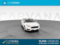 2018 *Ford* *Focus* SE Sedan 4D sedan White Downey