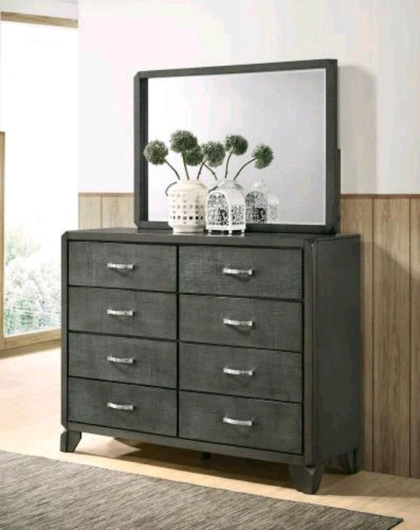 Used 8 Drawer Dresser And Mirror Greybrand New For Sale In