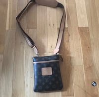 black and gray leather crossbody bag Rockville, 20850