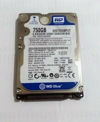 750GB Western Digital Laptop Harddiski