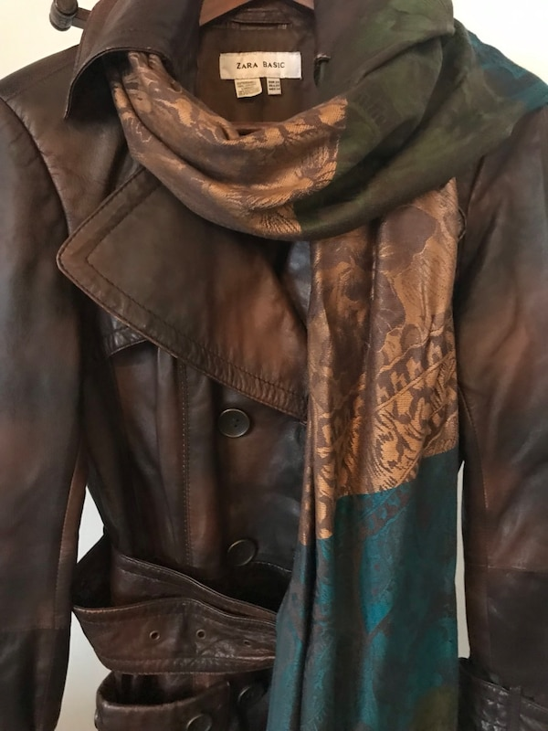 cf7b9bb2a70 Used Brown Leather Coat for sale in Calgary - letgo