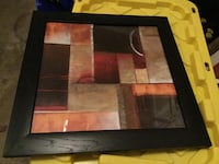 Black and brown abstract painting Bristow, 20136
