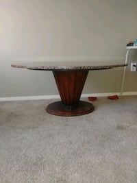 Oval Granite coffee table