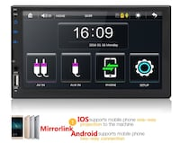 Double din touch screen car stereo mp5 Mississauga, L5A 2T5