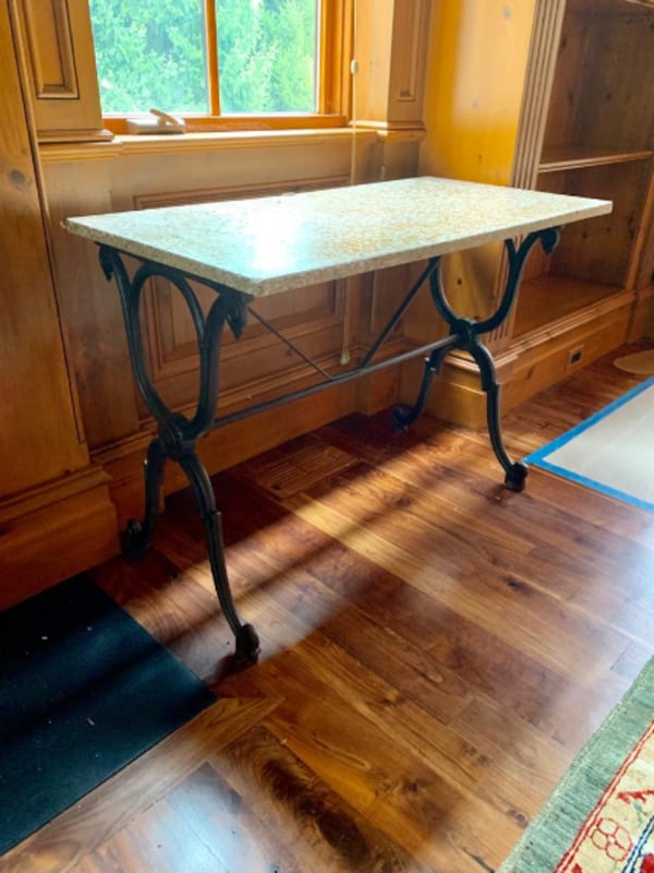 Two STUNNING Imported French Granite Tables ba114213-bc41-4876-ad99-8ab314c807c4