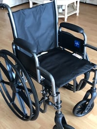 black and gray folding wheelchair SAINTPETERSBURG