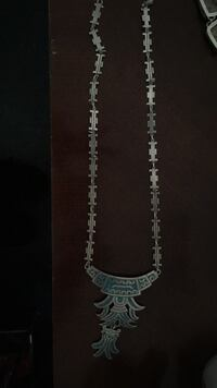 Sterling silver and turquoise  necklace  2316 mi