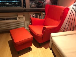 Great chair and ottoman for sale