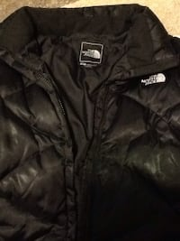 black The North Face zip-up jacket