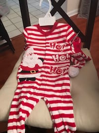 12M Christmas pajamas with hat (different one) Laurel, 20724