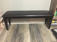 Leather bench from the brick (espresso brown) Stoney Creek, L8G 4M2