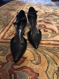 pair of black leather pointed-toe heeled shoes Pickering, L1V