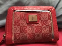 pink heart patterned coin purse