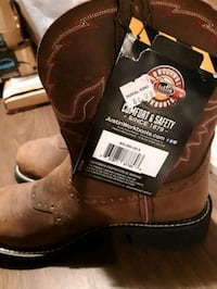 brown Justin leather cowboy boots Zanesville, 43701