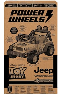 Toy story power jeep wrangler