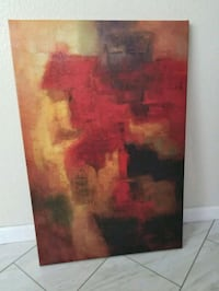 red and brown abstract painting 2049 mi