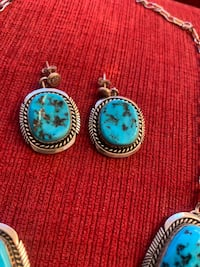 sleeping beauty turquoise and sterling silver necklace set Albuquerque, 87113