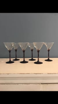 four clear glass candle holders Valley View, 44125