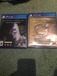 two Sony PS4 game cases Toronto, M1S 4P6