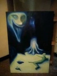 """Painting """"Not Alone"""" blacklight active Indianapolis, 46224"""