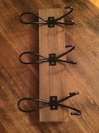 3 hook coat rack  Kitchener, N2G 2E2