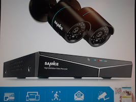 NEW SURVEILLANCE  SYSTEM WITH 2 INDOOR OUTDOOR WITH NIGHT VISION 1080 PIXELS