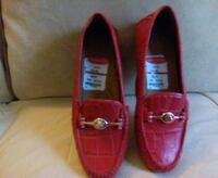 Coach- New, red leather loafers (9) negotiable 332 mi