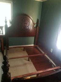 brown wooden framed glass top table Farmingdale, 07727