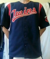 Embroidered Stitches Mn Twins Jersey Size L Men Columbia Heights, 55421