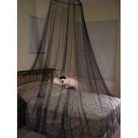 Black bed canopy Sterling, 20166