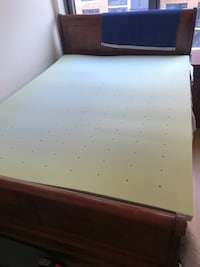 Queen size 2-inch this memory foam mattress  45 km