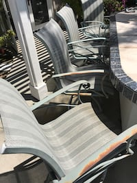 (4) outdoor counter height chairs San Clemente