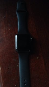 Black apple watch 3 with black sports band 42mm like new negotiable Montgomery Village, 20877