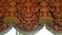 Curtains (8 panels), Valance, table runner