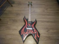 B.C. Rich red flame heavy metal guitar Chicago, 60640